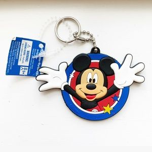 Classic Disney Mickey Mouse rubber keychain